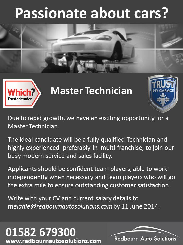 Recruitment - Master Technician