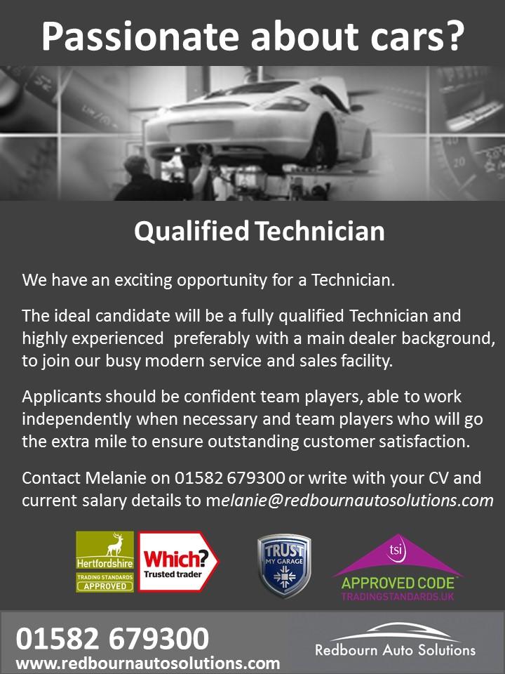 Recruitment - Technician 2017